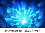 3d circle futuristic tunnel in... | Shutterstock .eps vector #562377964