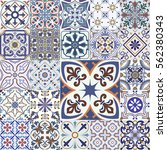 big vector set of tiles... | Shutterstock .eps vector #562380343