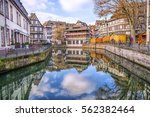 traditional half timbered... | Shutterstock . vector #562382464