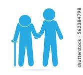 man helps elderly patient icon  ...   Shutterstock .eps vector #562384798