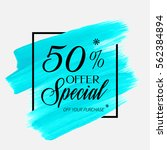 sale special offer 50  off sign ... | Shutterstock .eps vector #562384894