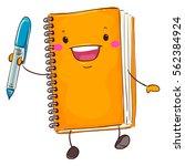 vector illustration of notebook ... | Shutterstock .eps vector #562384924