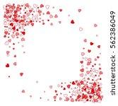 square corner red frame or... | Shutterstock .eps vector #562386049