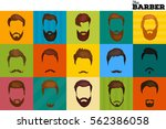 barber shop or hairdresser... | Shutterstock .eps vector #562386058