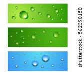 abstract vector banners set... | Shutterstock .eps vector #562390150