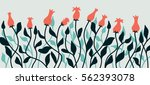 flowers background editable... | Shutterstock .eps vector #562393078