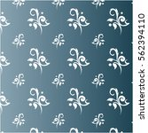 toile floral navy  | Shutterstock .eps vector #562394110