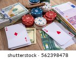 poker chips  play card with... | Shutterstock . vector #562398478