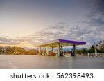 gas station with clouds and sky ... | Shutterstock . vector #562398493