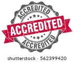 accredited. stamp. sticker.... | Shutterstock .eps vector #562399420