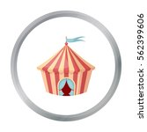 circus tent icon in cartoon... | Shutterstock .eps vector #562399606