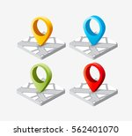 isometric pin icon on the... | Shutterstock .eps vector #562401070