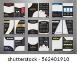 set of black flyers with... | Shutterstock .eps vector #562401910