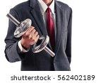 business man lifting weight...   Shutterstock . vector #562402189