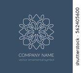 geometric logo template. vector ... | Shutterstock .eps vector #562405600