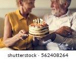senior life celebration cake... | Shutterstock . vector #562408264