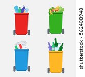 separation of waste on  colored ... | Shutterstock .eps vector #562408948