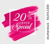 sale special offer 20  off sign ... | Shutterstock .eps vector #562411300