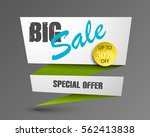 big sale banner with arrow in... | Shutterstock .eps vector #562413838