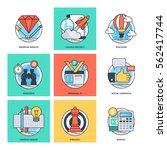 flat color line design concepts ... | Shutterstock .eps vector #562417744