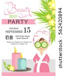 spa party invitation card | Shutterstock .eps vector #562420894