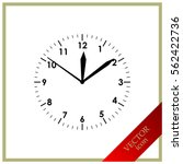 clock icon   vector | Shutterstock .eps vector #562422736