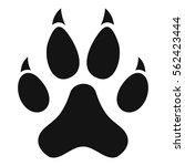 cat paw icon. simple... | Shutterstock .eps vector #562423444
