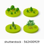 isometric tree icon set ... | Shutterstock .eps vector #562430929
