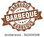barbeque. stamp. sticker. seal. ... | Shutterstock .eps vector #562434208
