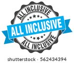 all inclusive. stamp. sticker.... | Shutterstock .eps vector #562434394