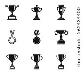 victory icons set. simple... | Shutterstock .eps vector #562434400