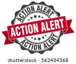 action alert. stamp. sticker.... | Shutterstock .eps vector #562434568