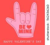 foam hand love gesture happy... | Shutterstock .eps vector #562436260