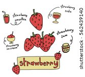 strawberries with various... | Shutterstock .eps vector #562439140