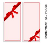 two greeting card template with ... | Shutterstock .eps vector #562440058