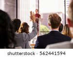 presenter at business seminar... | Shutterstock . vector #562441594