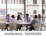 corporate business team meeting ... | Shutterstock . vector #562441684