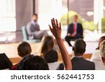 hand in audience raised for a...   Shutterstock . vector #562441753