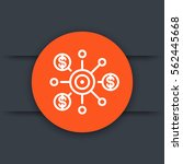 crowdfunding line icon ... | Shutterstock .eps vector #562445668