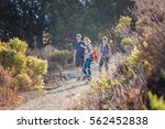 hikers on the walkway at the... | Shutterstock . vector #562452838