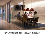 corporate business team using... | Shutterstock . vector #562455034