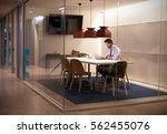 hispanic businessman works in...   Shutterstock . vector #562455076