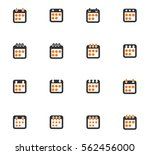 simple set of box and crates... | Shutterstock .eps vector #562456000