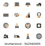 alternative energy icons set... | Shutterstock .eps vector #562460404