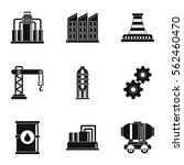 oil production icons set.... | Shutterstock .eps vector #562460470