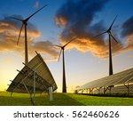 Solar Panels With Wind Turbine...