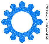 cog grainy textured icon for... | Shutterstock .eps vector #562461460