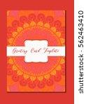 mandala vintage template card... | Shutterstock .eps vector #562463410