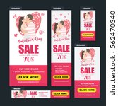 valentine's day sale banners... | Shutterstock .eps vector #562470340