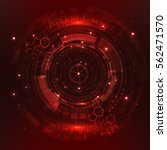 red sci fi futuristic user... | Shutterstock .eps vector #562471570